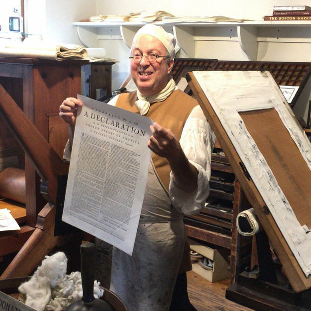 """Declaration of Independence"" from the Printing Office of Edes & Gill in Boston from The History List Store"