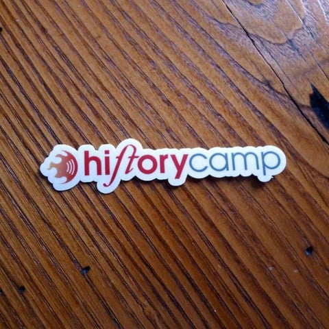 """History Camp"" sticker from The History List Store"