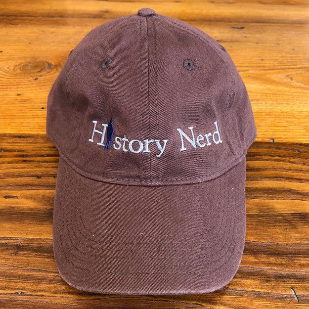 "Embroidered ""History Nerd"" with Ben Franklin cap - Java from The History List Store"