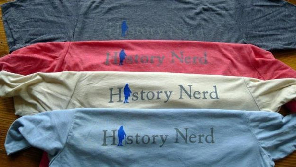 """History Nerd"" shirt with Ben Franklin - Cream from The History List Store"