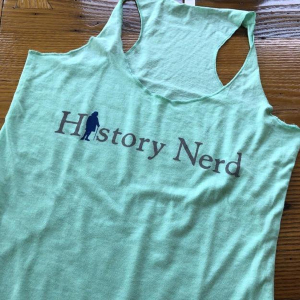 """History Nerd"" Tank top with Ben Franklin - Mint green from The History List Store"