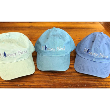 "Embroidered ""History Nerd"" with Ben Franklin cap - Bluegrass from The History List Store"