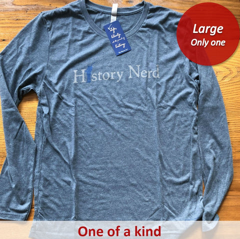 "Civil War ""History Nerd"" long-sleeved shirt - Only one - Indigo from The History List Store"