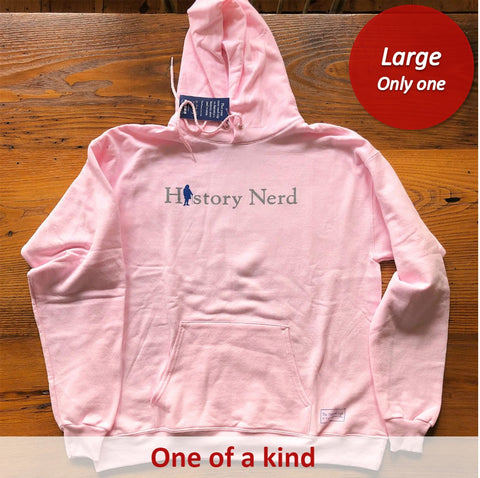 """History Nerd"" Pullover sweatshirt with Ben Franklin - Pale pink - Only one from The History List Store"