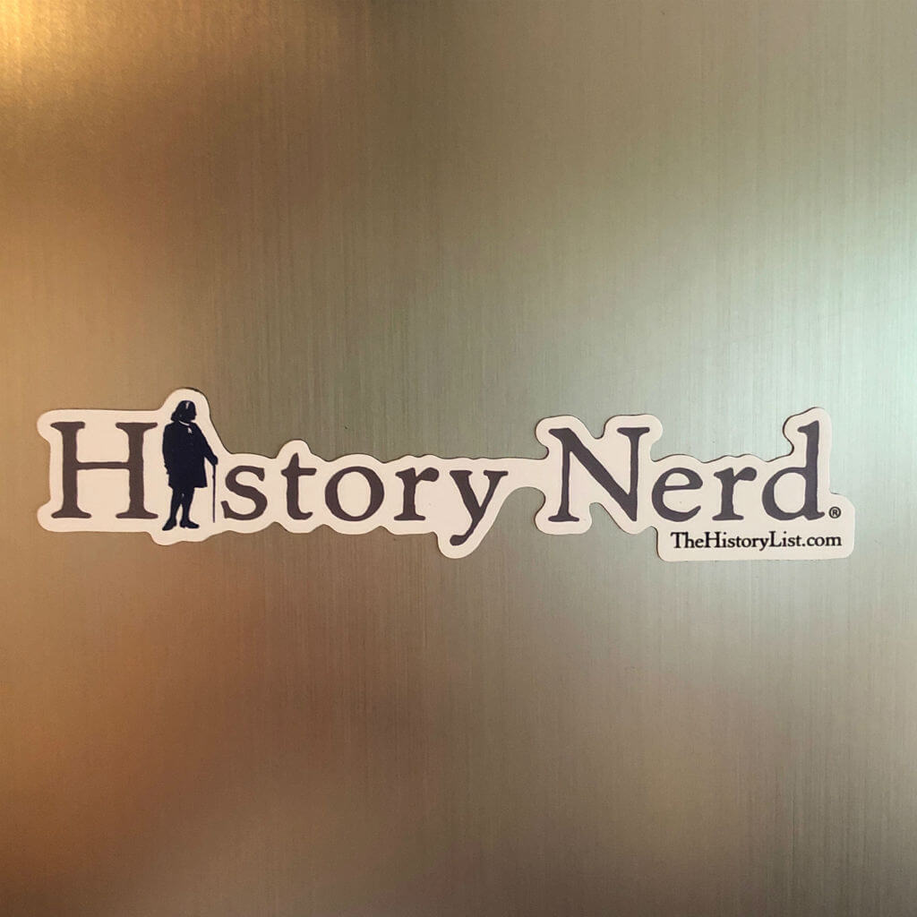 """History Nerd"" Magnet with Ben Franklin from The History List Store"