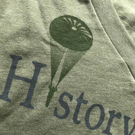 """History Nerd"" V-neck shirt with WWII Paratrooper - 75th Anniversary of D-Day from The History List Store"