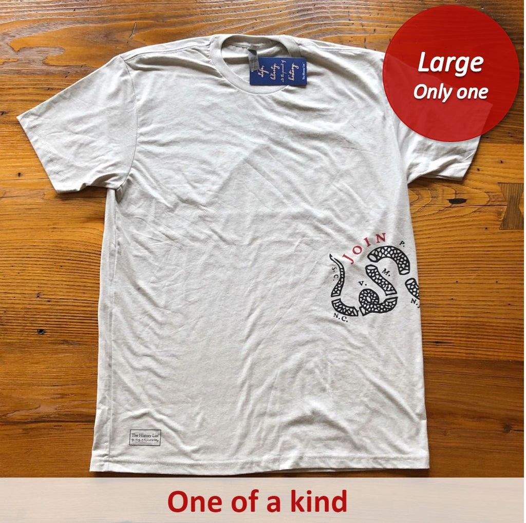 """Join or Die"" Shirt - Silk - Only one from The History List Store"