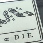 """Join or Die"" Framed print from The History List Store"