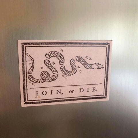 """Join or Die"" Magnet from The History List Store"