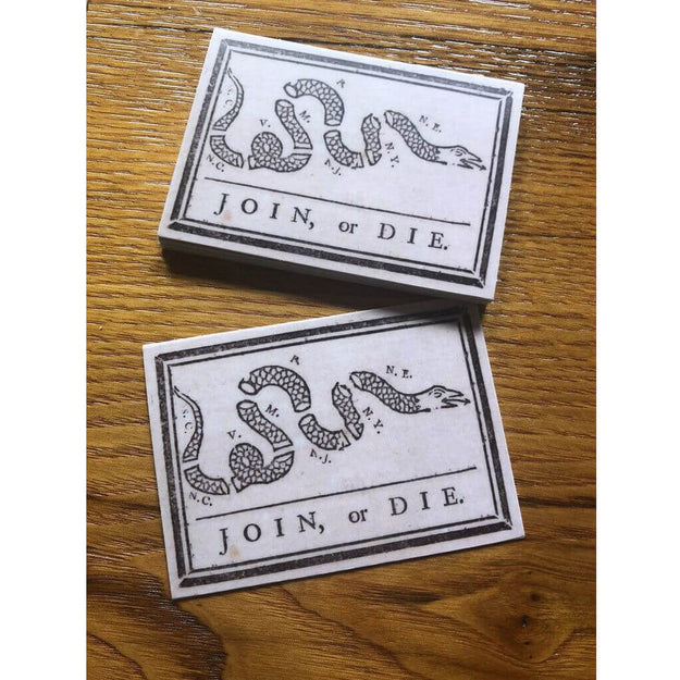 """Join or Die"" Sticker from The History List Store"