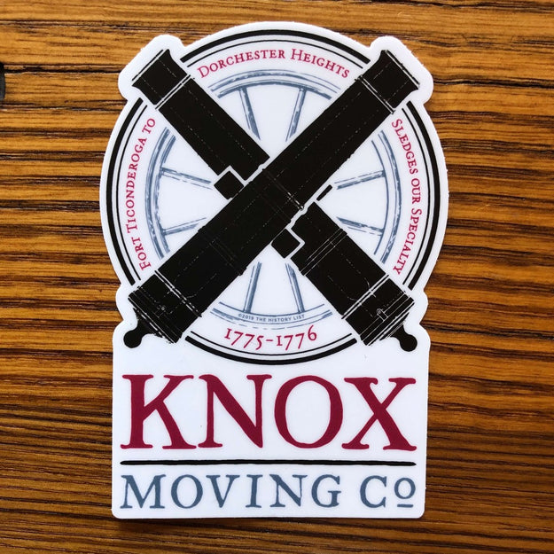 """Knox Moving Co."" Sticker from The History List Store"