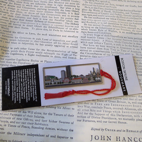 Metal Bookmark - Boston Skyline from The History List Store