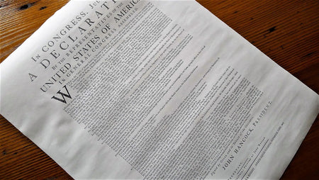 """Declaration of Independence"" printed by John Dunlap (Philadelphia) from The History List Store"
