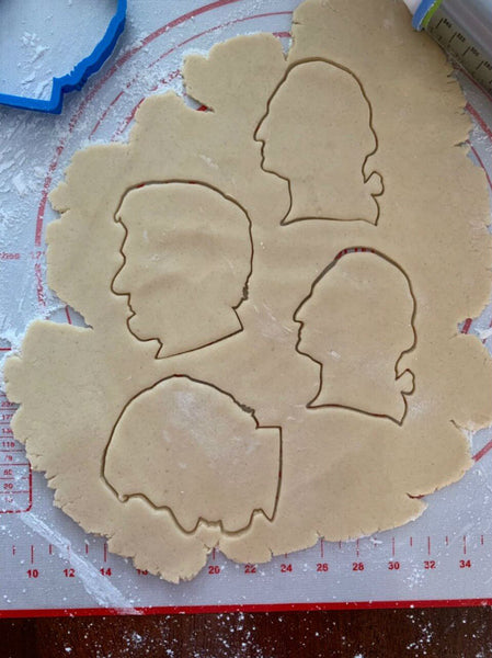 Abraham Lincoln Cookie cutter - Set of 2 from The History List Store