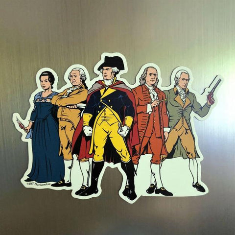 """Revolutionary Superheroes"" Magnet - Large from The History List Store"