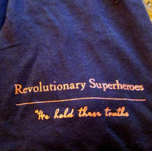 """Revolutionary Superheroes"" T-Shirt - Black from The History List Store"