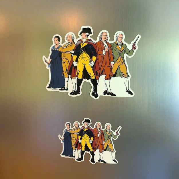 """Revolutionary Superheroes"" Magnet from The History List Store"