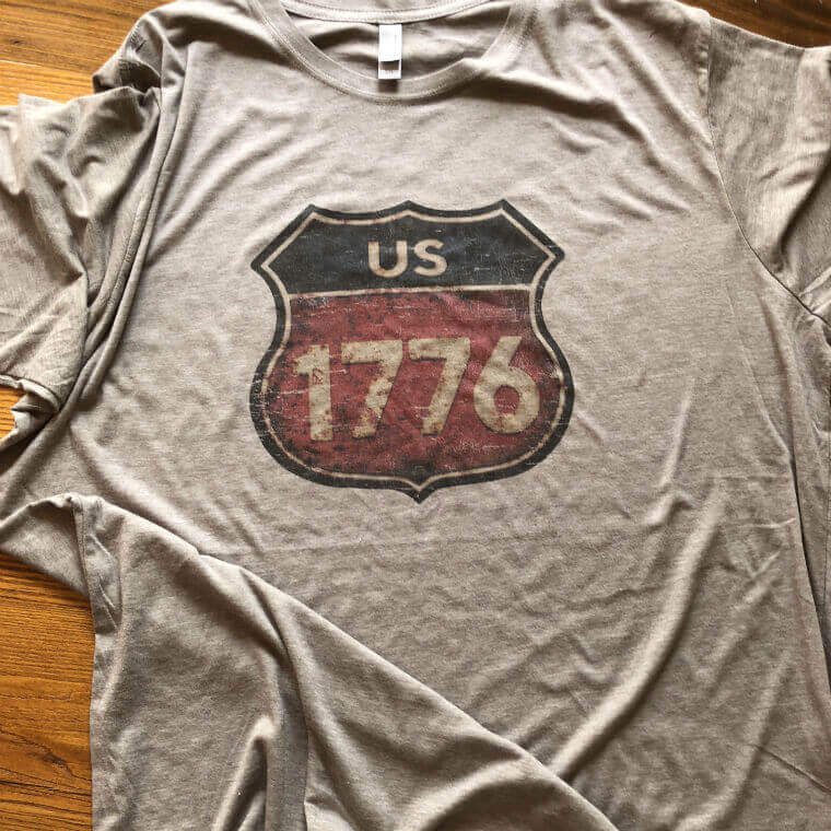 """Route 1776"" T-shirt - Ash from The History List Store"