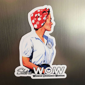 """She's a W.O.W."" Magnet from The History List Store"