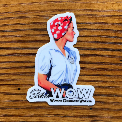 """She's a W.O.W."" Sticker from The History List Store"