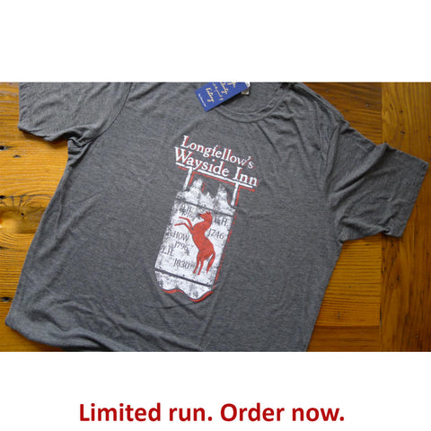 Longfellow's Wayside Inn Vintage t-shirt - Charcoal grey from The History List Store