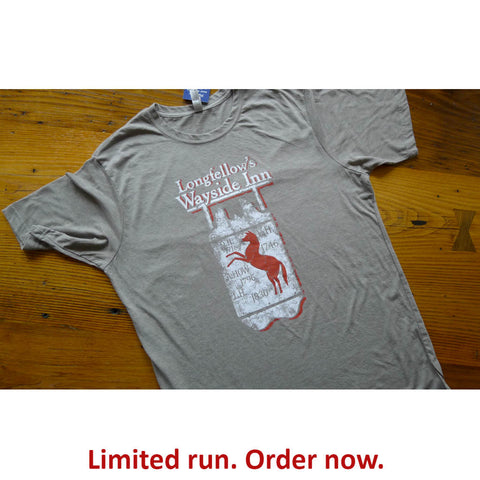 Longfellow's Wayside Inn Vintage t-shirt - Light grey - Only one from The History List Store