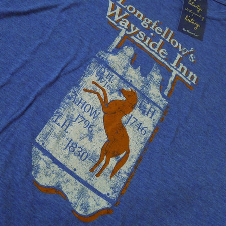 Longfellow's Wayside Inn Vintage t-shirt - Royal blue from The History List Store