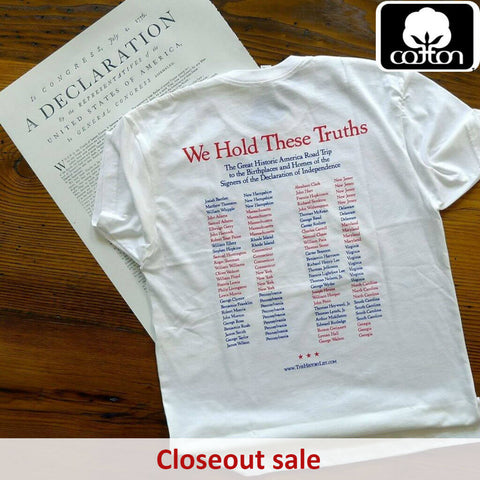 """1776 Historic America Road Trip to the Birthplaces and Homes of the Signers of the Declaration of Independence"" Shirt — Closing out this print run from The History List Store"