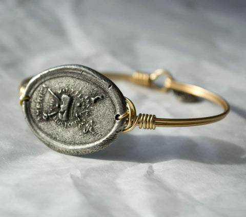 Stamp Act Bracelet - Bronze