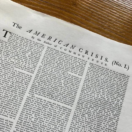 """The American Crisis"" by Thomas Paine - ""These are the times that try men's souls"" - Broadside printed in Boston from The History List Store"