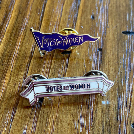 """Votes for Women"" Sash pin from The History List Store"