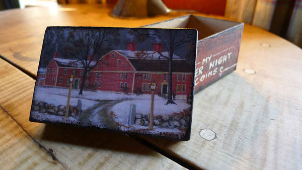 Wayside Inn handmade paper box - Rectangle - Medium from The History List Store
