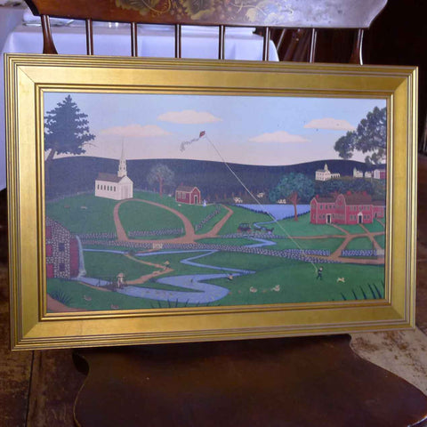 "Framed ""Wayside Inn Summer"" by RJ Houghton from The History List Store"