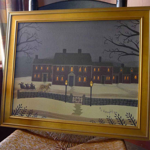 "Framed ""Wayside Winter's Eve"" by RJ Houghton from The History List Store"