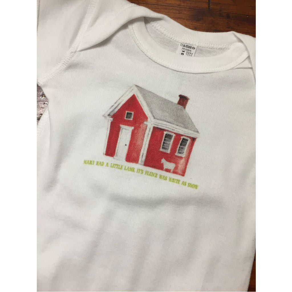 The Redstone Schoolhouse Onesie from The History List Store