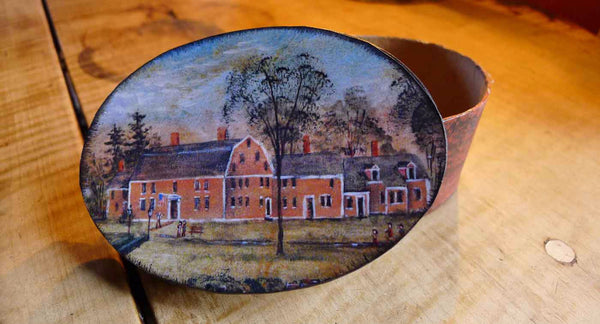 Wayside Inn handmade paper box - Oval - Medium