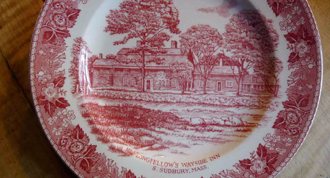 Wayside Inn Old English Staffordshire plate from The History List Store