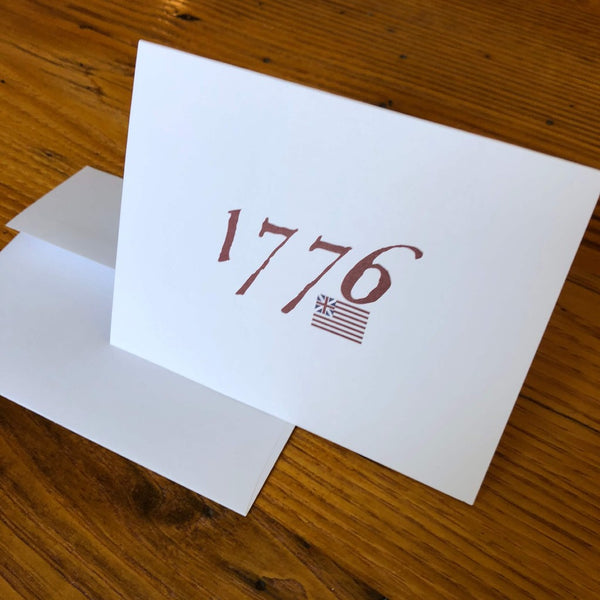 """1776"" Note cards with envelopes - Set of 6 from The History List Store"