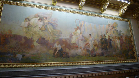 """Westward"" Mural print - 16"" x 37"" from The History List Store"