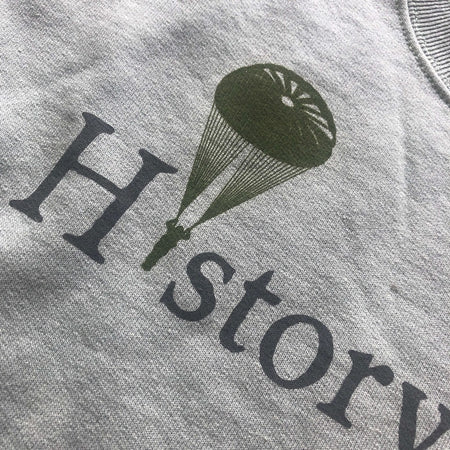 """History Nerd"" crewneck sweatshirt with WWII Paratrooper - 75th Anniversary of D-Day from The History List Store"