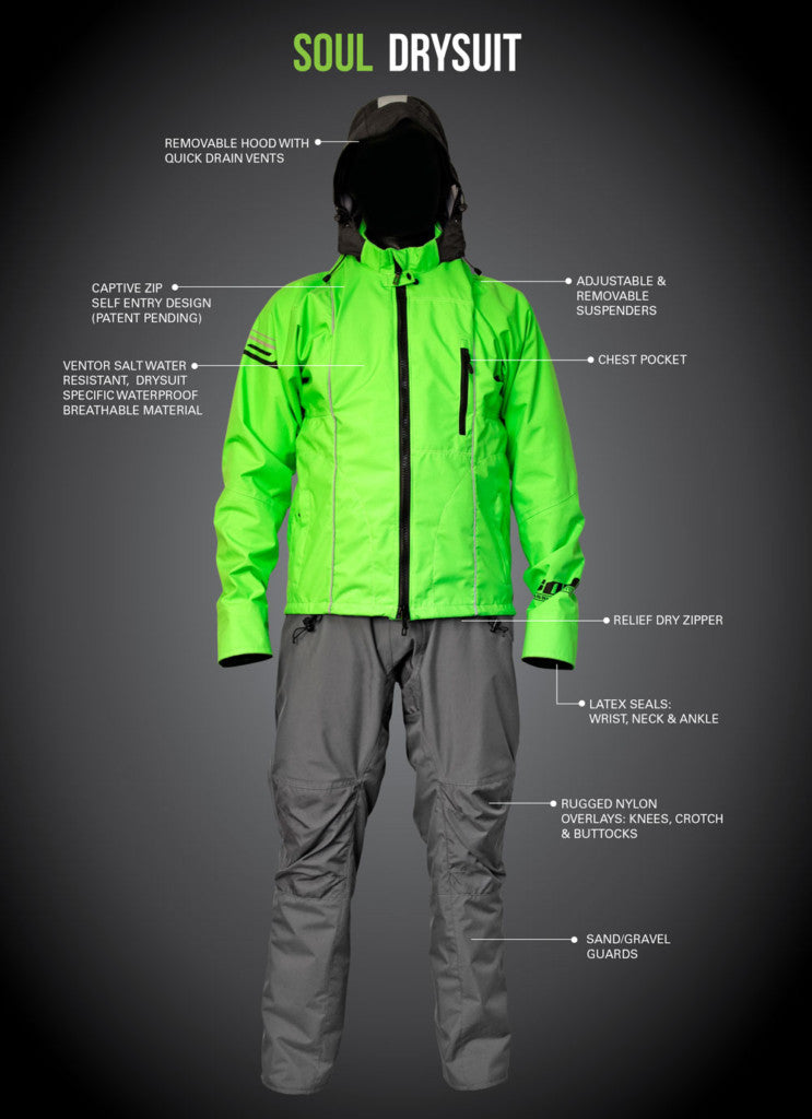 Ocean Rodeo Soul 2.0 Drysuit - Green