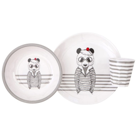 ALL4ELLA - MELAMINE DINNER SET BEAR