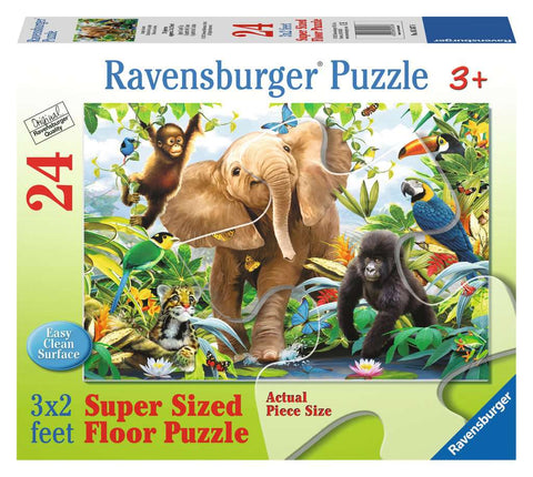 RAVENSBURGER - JUNGLE JUNIORS SUPER SIZED 24PC PUZZLE