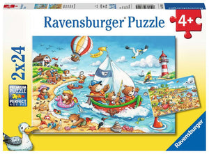RAVENSBURGER - SEASIDE HOLIDAY 2X24PC PUZZLES 4+