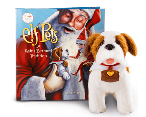THE ELF ON THE SHELF - ELF PETS SAINT BERNARD