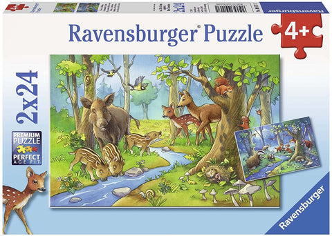 RAVENSBURGER - ANIMALS OF THE FOREST 2X24PC PUZZLES