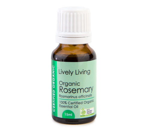 LIVELY LIVING ESSENTIAL OIL - ORGANIC ROSEMARY
