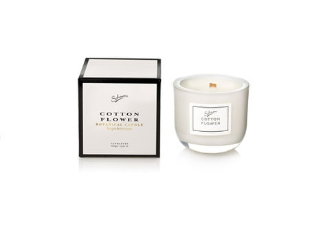 SOHUM ECO CEDARWICK CANDLE 100gm - COTTON FLOWER