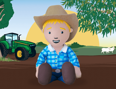 GEORGE THE FARMER - GEORGE FARMER CUDDLE DOLL