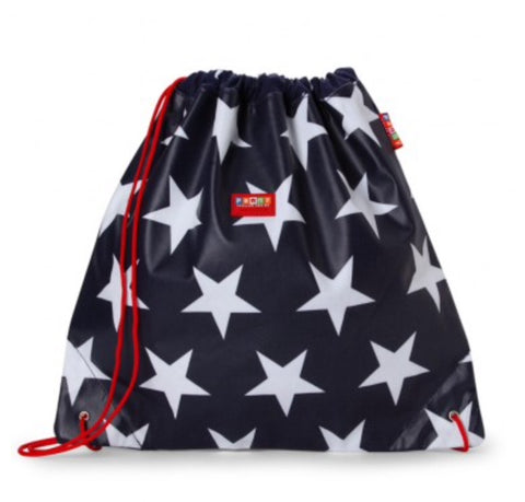 PENNY SCALLAN DRAWSTRING BAG - NAVY STAR